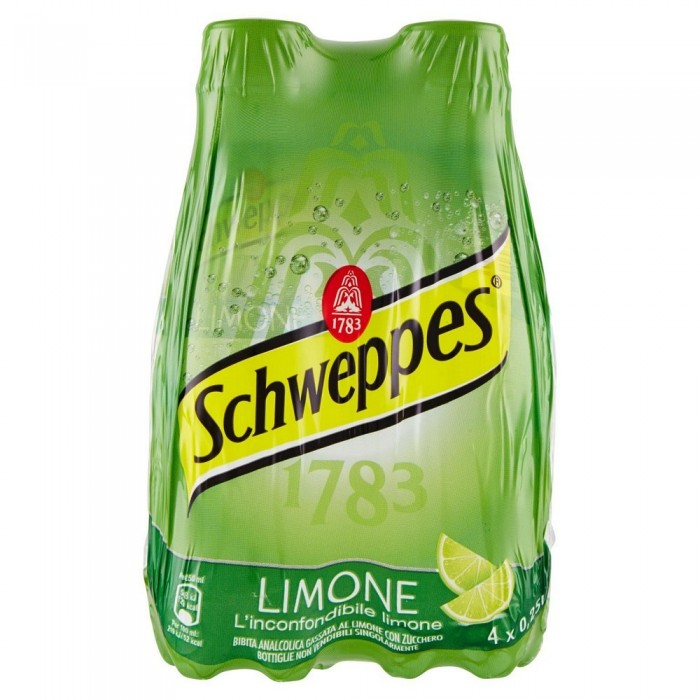 SCHWEPPES TONICA LIMONE PET 4 x 0,25 CL