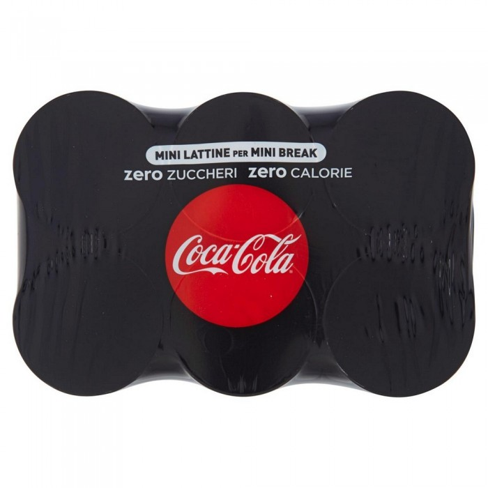 COCA COLA ZERO LATTINA CL.15 X 6