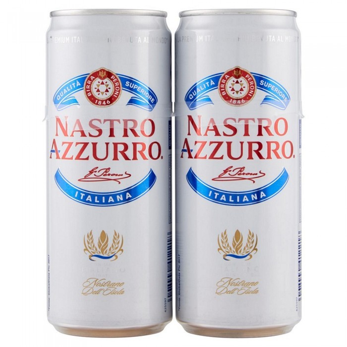 NASTRO AZZURRO BIRRA LATTINA CL.33x2
