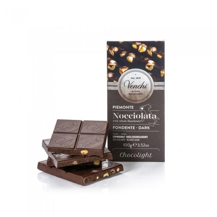 VENCHI TAVOLETTA NOCCIOLE/FONDENTE CHOCOLIGHT GR.100