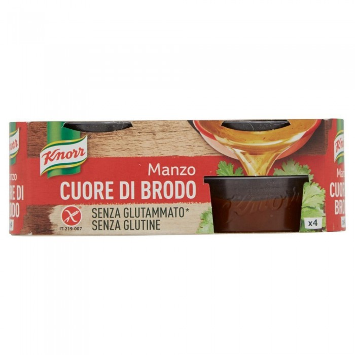 'KNORR CUORE BRODO MANZOx4 GR28'