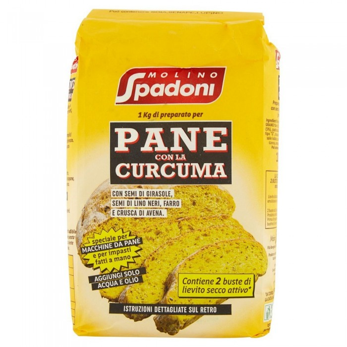 SPADONI FARINA PANE CURCUMA KG.1