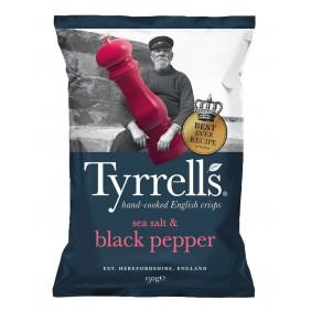 TYRRELLS CHIPS  PEPE NERO GR.150