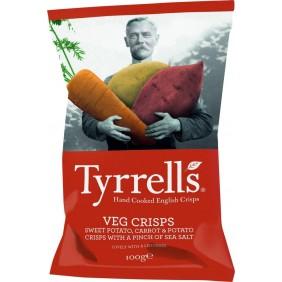 TYRRELLS VEGAN CRISPS CAROTE E PATATE GR.100
