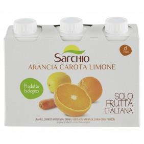SARCHIO SUCCO ARANCIA CAROTA E LIMONE ML.200 X 3