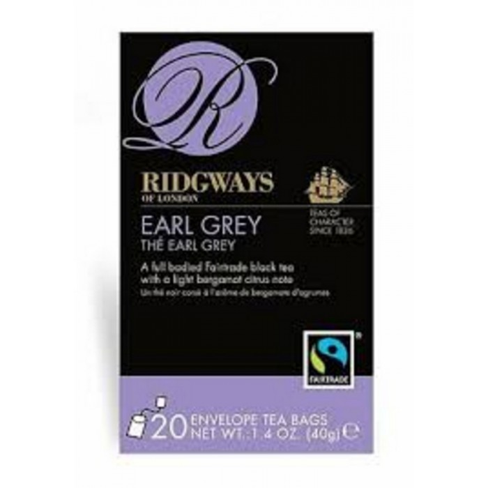 THE  RIDGWAYS TEA EARL GREY 20 F.