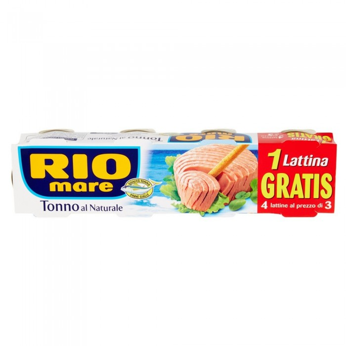 RIO MARE TONNO NATURALE GR.80 X 4
